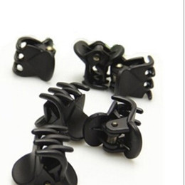 Wholesale Hair Clips Clamp - Wholesale-Fashion Plastic Ladies six Claws Hairpin Hair Clip Clamp Black 12 Piece
