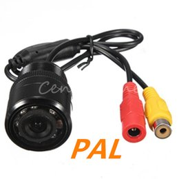 Wholesale Day Night Rear View Camera - E328 PAL CMOS 9 LED Auto Car Rear View Rearview Reversing Flush Backup Day Night Vision Parking Park Light Security Cameras New