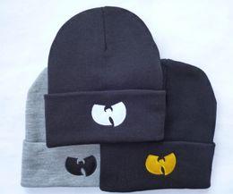 Wholesale Fall Knitting Patterns - Wu-Tang Beanie Hat WuTang Beanies Womens Mens Winter Hats Fashion Knitting Pattern Skull Caps free shipping