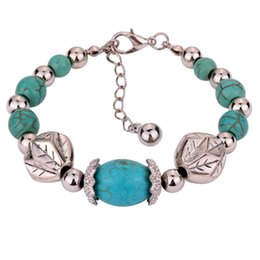 Wholesale Turquoise Direct - NEW hot selling delicate vintage figure hollow-out turquoise crystals bangle bracelet  Factory direct sales  Free shipping