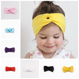 Wholesale Trendy Baby Colors - SALE! 2016 NEW ARRIVAL 9 colors 30pcs Trendy Lovely Rabbit Ears Shaped Elastic Cloth Baby Girls Hairbands Children Hair Accessories