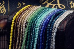 Wholesale Flat Craft Beads Free Shipping - DIY 2 mm Loose beads,Flat crystal wheel craft accessories beads,Free shipping glass charm bracelets necklaces,Fashion jewelry.21pcs.AL