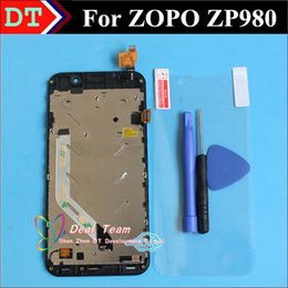 Wholesale Zopo Touch - Wholesale-In Stock!100% Original New ZOPO ZP980 C2 Touch Screen + LCD Display complete For ZP980 C2 1920*1080 FHD Black Color With Frame