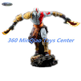 Wholesale War Fan - [Resin Made] 1 4 Scale God Of War 3 Kratos Resin FIGURE Statue Fans Action Figure Collectible Model Toy 35cm RETAIL BOX WU785