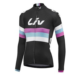 Wholesale Liv Clothes - 2017 Pro Cycling Jerseys LIV women Cycling clothing Racing Bike Clothes Autumn Quick Dry Long sleeves mtb Bicycle Sports wear D1110
