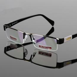 Uomini in lega di titanio occhiali da lettura non sferici lente in resina dura mezza cornice presbite con scatola diottrica + 1.00- + 4.00 spedizione gratuita cheap half frame reading glasses men da mezzo telaio lettura occhiali uomini fornitori