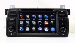 Wholesale Bmw E46 Usb - Android 4.4 Car DVD Player for BMW 3 Series E46 M3 with GPS Navigation Radio BT USB SD AUX WIFI Video Stereo