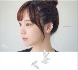 Wholesale Ear Cuff Stud Earrings Silver - Earrings for Woman Girl Jewelry Brand Design Ear Cuffing Statement Fashion Jewelry New Korean Earring Studs Pack Crystal Drop Earrings