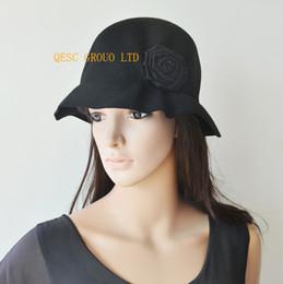 b58222851b7 Black 100% Wool felt hat Ladies hats winter hat formal hat for winter  church.