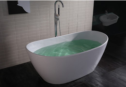 Superfici eleganti online-1630mm Element Solid Superficie Vasca da bagno in acrilico Acrilico Freestanding Oval Corian Smalto Vasca da bagno Cupc Approval Bath 6509