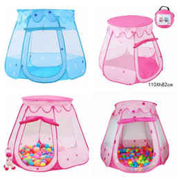 Wholesale Blue Castle Play Tent - 2 Colors Children Beach Tent Baby Toy Play Game House Kids Princess Castle Tent Indoor Outdoor Toys Tents Christmas Gifts CCA8418 50pcs