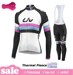 Wholesale Cycling Jersey Women Long Sleeve - 2015 Liv women winter thermal Fleece Ropa Ciclismo hombre long sleeve Pro cycling jersey Bycle bib long pants Sets winter cycling clothing