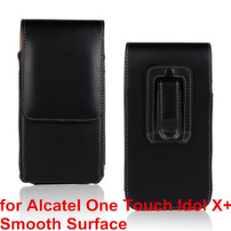 Wholesale Alcatel Idol X - High Quality PU Leather Mobile Phone Case Belt Clip Pouch Cover Case For Alcatel One Touch Idol X+ 6043D