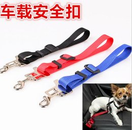 Wholesale Designer Dog Collars Leads - Factory Price!! Pet Dog Car Seat Belt Collar Puppy Dogs Lead Designer Collars And Leashes Adjustable Portable Harness Rope 2.5cm Free DHL