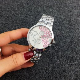 Wholesale Dresses Elegant Diamonds - 2017 Top New Luxury Brand Elegant Women Geneva Mechanical Rotation Steel Diamonds Watches Fashion Dress Diamond Retro Lady Metal Wrist