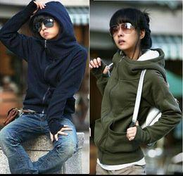 Wholesale Cheap Hoodies Cardigans - Hot Sale New cheap women Long sleeve hoodie cardigans coat women's hoodie sports wear Track hoodie sweatshirt Free Shipping