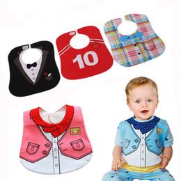 Wholesale Infant Baby Modeling - Wholesale- 0-3 years Baby Girl Boy Waterproof newborn burp cloth Infant Saliva Towels baby dress modeling bib Waterproof baby bibs