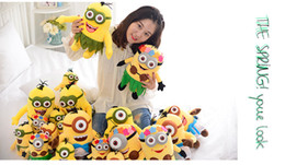 Wholesale Despicable 35cm - Hot Selling 11.8inch 35cm 3D Despicable Me 2 movie Minions plush toy hawaii stuffed plush doll for child christmas birthday gift CH-3105