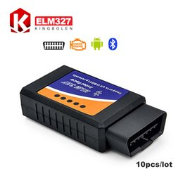 Wholesale Obd Android Torque - Wholesale-[10pcs lot] Wholesale Professional Diagnostic Tool OBD2 OBD-II ELM327 Bluetooth V2.1 Works On Android Torque Free Shipping