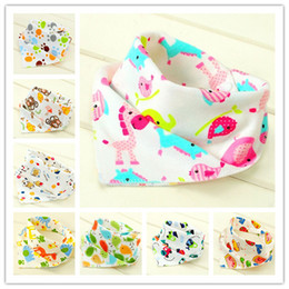 Wholesale Towel Wear - Wholesale- 2017 6pcs lot New Baby Cotton Bib Infant Saliva Towels Baby Accessories Bibs  Newborn Wear Cartoon
