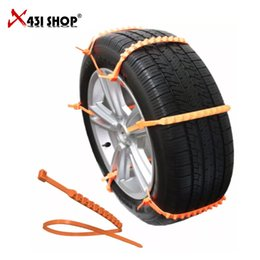 Wholesale Mini Tyres - Car Universal Mini Plastic Winter Tyres wheels Snow Chains For Cars Suv Car-Styling Anti-Skid Autocross Outdoor ZipClipGo