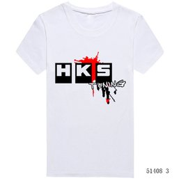 2020 авто футболки Wholesale-Summer Brand Car Auto HKS T Shirts Men Cotton Solid Short Sleeve Euro Size T-shirts Tops Tees Man Casual Hiphop Tshirts Clothing дешево авто футболки