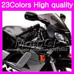 Wholesale 98 Honda - 23Colors Windscreen For HONDA NSR125R 87 88 89 90 91 92 93 94 95 96 97 98 99 00 NSR125 R 88 Chrome Black GPear Smoke Windshield