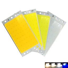 Tiras de luz epistar led on-line-15 W COB LED Strip Lâmpada Bulbo 12 V Branco Azul Vermelho Epistar LED Chip On Board para o Trabalho DIY Luzes Do Carro 94x50 MM 1500LM