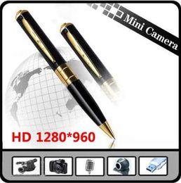 Wholesale Spy Pen Camera Tf Card - HD Spy Pen Cameras DV DVR Hidden Voice Camera Video 1280*960 AVI Camcorder 30FPS Webcam Support High Speed 32GB TF Card