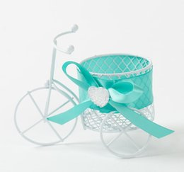 Wholesale Iron Stocking Holders - 30Pcs Lot Iron Bicycle Candy Boxes Metal material Gift Box Wedding Favor Holders Boxes 2015 Style Free Shipping In Stock