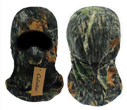 Wholesale Camo Scarves - Wholesale-Camo Army Balaclava 3Hole Neck Full Hood Face Mask Ski Warmer Facemask Snow Ski Sled Scarf Motorcycle Biker Hunting Facemask