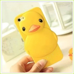 Wholesale Cheap Customized Iphone Cases - Cheap Cell Phone Cases For Ipad Mini 1 Mobile Cells For Ipad Mini Fashion Shell Phone Case Yellow Animal Duck Covers