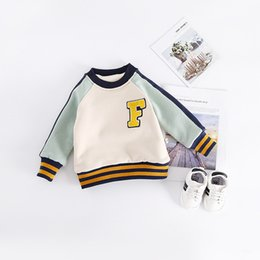 Wholesale Baby Jumper Winter - eClouds England Style Baby kids Sweatshirt Boy Girl Long Sleeve Tops Cotton Winter Warm Clothes Kids T shirts Children Jumper Clothing