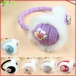 Wholesale Cheap Ear Muffs Free Shipping - Wholesale-Flowers earmuffs Korean female models 2015 new candy -colored flowers, cute earmuffs cover Free shipping cheap wholesale