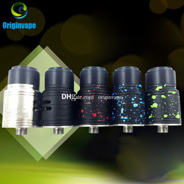 Wholesale Fuel Controls - Fuel RDA Atomizer Clone New Colors 22MM Rebuildable Dripping Atomizer Bottom Airflow Control Wide Drip Tip 8 Colors DHL Free Shipping