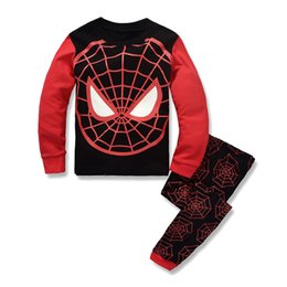 Wholesale Classic Baby Clothes Sets - Children Suit Spider-man Kids Sets Boys Pajamas Children Sets Baby Long Sleeve 2016 Newest Set Foy Boys Children Clothing Sports Sets