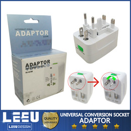 Wholesale Universal Multi Plug Travel Adapter - Multi Function Global Conversion Power Plug Base Socket Outlet Adapter Travel Universal general conversion sockets UK EU US AU Free shipping
