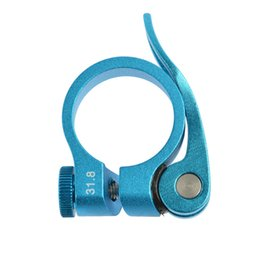 Wholesale Selle Seats - Wholesale-Rockbros Seat Clamp Mountain Road Bike Seatpost Clamp Aluminum Alloy Bicycle Seatpost Clamp 31.8mm 34.9mm Tige De Selle 4 Colors