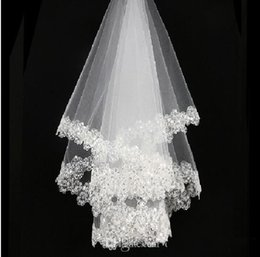 Wholesale New Veils - Bai Seliang piece of lace bride marriage yarn dress accessories The new 2018 Korean brides veil