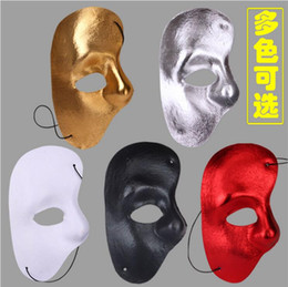 Wholesale White Cloth Mask - free shipping Party mask half face mask of the opera - right face cloth mask Man mask Girl mask