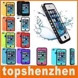 Wholesale Cell Phone Waterproof Cover - Red pepper Waterproof Case Shockproof Dirtproof Case Cover Diving Shockproof Snow Proof Case Cover For iPhone 4 4S 5S 5G 5C Cell phone Cases