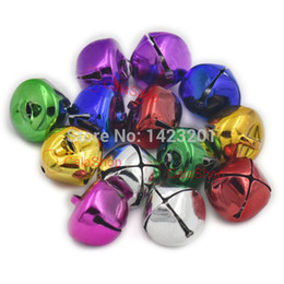 "Wholesale christmas bell crafts - Wholesale- 25 Pcs   Lot 18mm 0.71"" Metal Jingle Bell Charms Charms Cross Making Halloween Costumes Craft Sewing DIY Mixed"