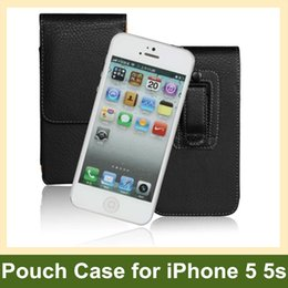 Wholesale Iphone 5s Belt Clip Leather - Wholesale For Apple iPhone 5 5s Case Belt Clip PU Leather Vertical Flip Pouch Case for Apple iPhone 5 5s Free Shipping Free Shipping