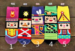 Wholesale 3d Socks Wholesale - New Arrival Women Socks Fashion lovely Cartoon cotton 3D Nutcracker printed Casual sock for woman CW84