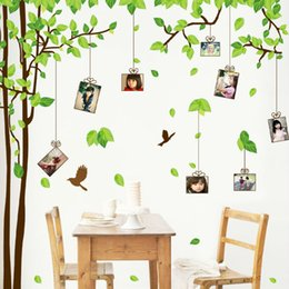 Wholesale Photo Family Tree Wall Mural - Large Family Tree Picture Photo Frame Wall Decal Living Room Bedroom Sweetest Highlighting Wall Decorative Art Murals Stickers
