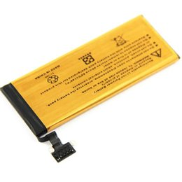 Wholesale replacement ups batteries - DHL UPS Free High Capacity Battery 2680mAh Gold Replacement Li-ion Battery For iPhone 5S 5G 5C Batterie Batterij Bateria 100pcs lot
