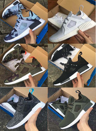 Wholesale Genuine Leather Skull - 2017 NMD XR1 X Mastermind Japan Skull Glitch Black White Blue green Camo Fall Olive Runing Shoes NMD Boost sporst sneakers Size 36-45