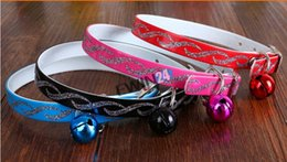 Wholesale Kitten Collars Bells - Brand New and High Quality Pet Cat Kitten Collar Adjustable Quick Release Safety Buckle & Bell 50pcs