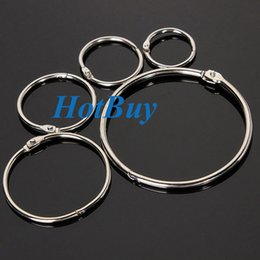 Wholesale Ring File Folder - Hinged Rings Metal Binder Craft Split Hinge For Scrapbooking Photo Album 25mm 32mm 38mm 50mm 75mm #3699