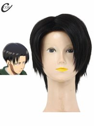 Wholesale Rivaille Wig - Wholesale-Attack on Titan Rivaille Levi Cosplay Wig
